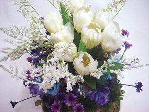 Flores de Seda para Arranjo de Mesa de Festa