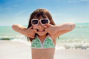 menina praia