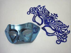 máscara carnaval pérolas
