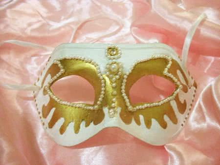 mascara carnaval pérolas