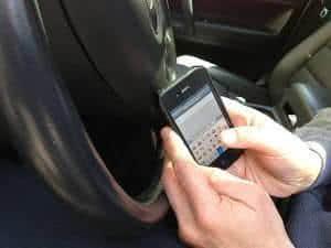 dirigindo sms