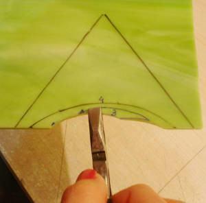 corte vidro concavo