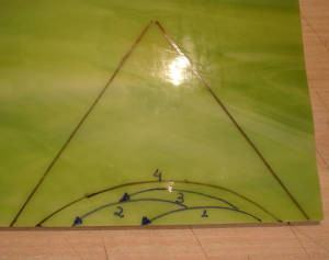 corte vidro em concavo