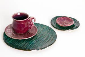 xícaras e pratos ceramica
