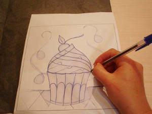 mosaico cupcake