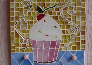Porta-Toalha em Mosaico de Cupcake