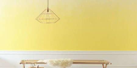 parede amarela luminaria