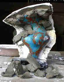 molde gesso colorido