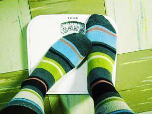 balança analogica meias