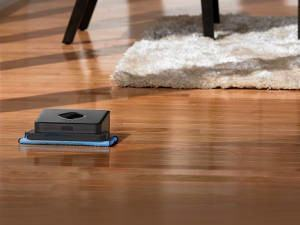 robô pano no chão