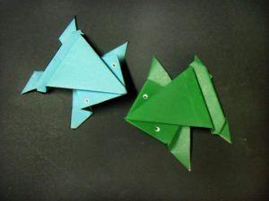 Como Fazer um Origami de Sapo que Pula