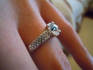 aliança diamante