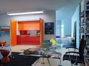 cozinha oculta armário