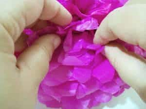 pompons papel de seda