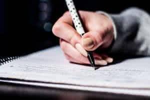 estudar escrever