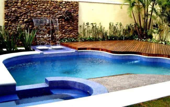 Piscinas com cascata como ter uma fazf cil for Ver piscinas grandes