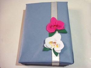 Orquídeas de Papel para Enfeitar Presentes
