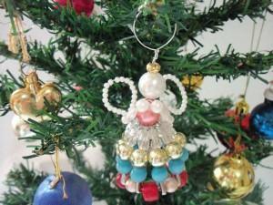 Anjo de Contas para a Árvore de Natal