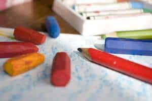 lápis de cor arte
