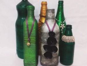 Garrafas Decorativas: Vamos Reciclar?