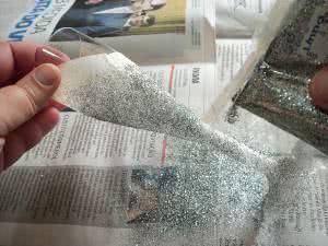 taça com glitter