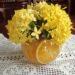 Arranjo para Centro de Mesa com Flores e Laranjas