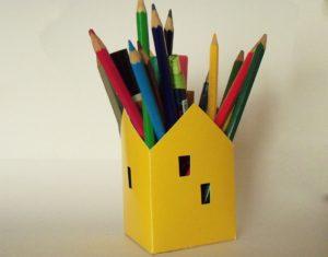Porta-Lápis em Forma de Casinha
