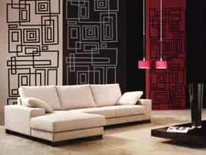 sala paredes tecido papel de parede