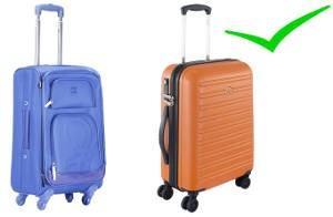 malas com rodas simples e rodas duplas