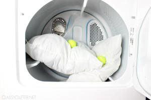 travesseiros máquina secadora