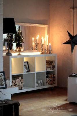 estante velas sala