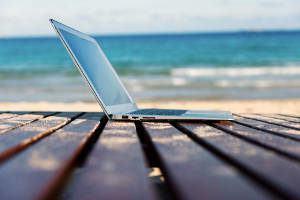 notebook praia