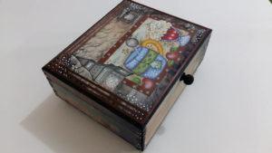 Caixa de Chá Decorada