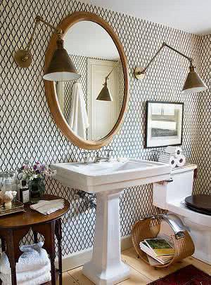 banheiro papel de parede