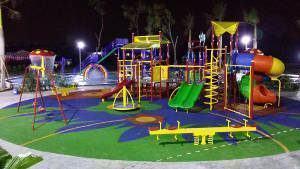 playground noite iluminação