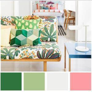 Use a mesma paleta de cores para coordenar estampas diferentes