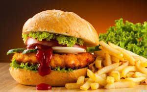 fast food hamburger batata