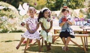 crianças jardim aniversário