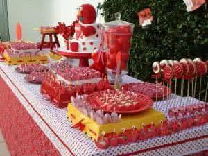 mesa de aniversario