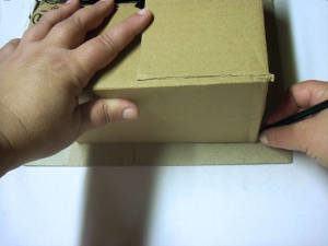 cesta quadrada jornal