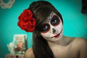 Maquiagem típica do Dia dos Mortos mexicano