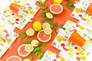 Decoração da Mesa com Frutas