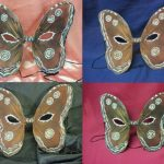 Máscara de Halloween em Forma de Mariposa