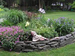 demarcador de jardim de pedra