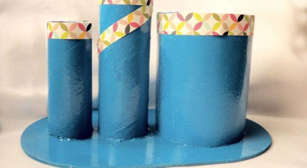 Porta-Lápis e Caneta Reciclado