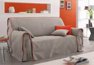 capa sofa cinza
