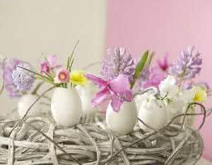 ovos flores páscoa