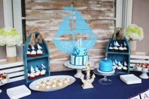 barcos mesa festa