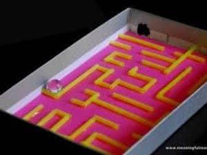 labirinto na caixa de sapato