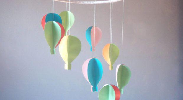 Como Fazer um Móbile de Balões Coloridos